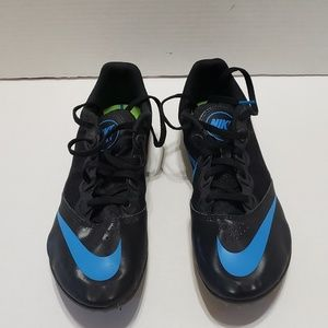 Nike Rival S Women Running Black Blue Track Shoe 9